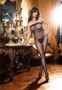 Rffle Lace Fleur Bodystocking - Q (disc)