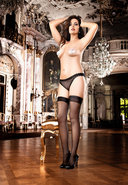 Sheer Thigh High W/ Backseam - Q (disc)